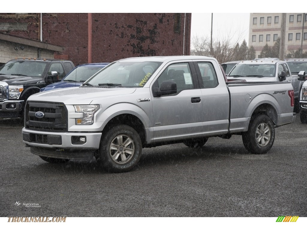 2017 ford f150 xl supercab 4x4 in ingot silver a43555 truck n 39 sale. Black Bedroom Furniture Sets. Home Design Ideas