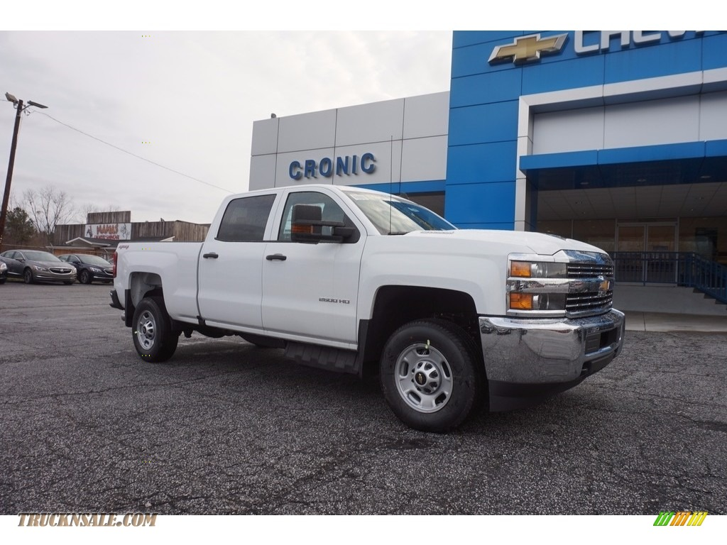 2017 silverado 2500hd work truck crew cab 4x4 summit white dark ash jet