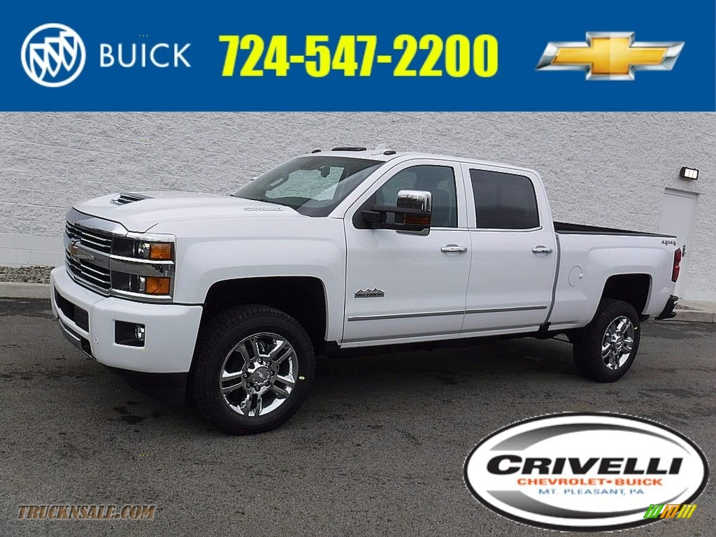 2017 chevrolet silverado 2500hd high country crew cab 4x4 in summit white 126052 truck n 39 sale. Black Bedroom Furniture Sets. Home Design Ideas