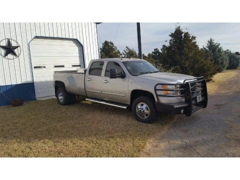 Silver Birch Metallic 2008 GMC Sierra 3500HD SLT Crew Cab 4x4 Dually