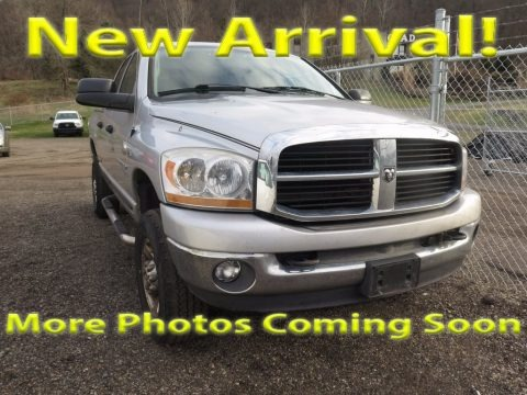 Bright Silver Metallic 2006 Dodge Ram 2500 SLT Quad Cab 4x4