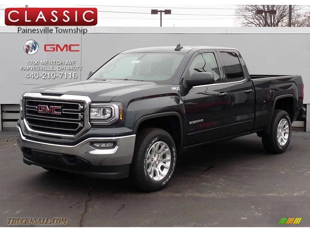 2017 gmc sierra 1500 sle double cab 4wd in dark slate metallic 195076 truck n 39 sale. Black Bedroom Furniture Sets. Home Design Ideas