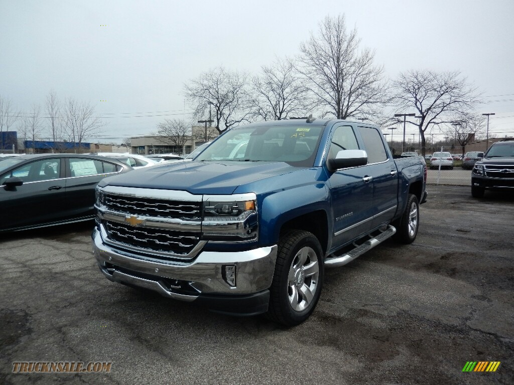 2017 chevrolet silverado 1500 ltz crew cab 4x4 in deep ocean blue metallic 290922 truck n 39 sale. Black Bedroom Furniture Sets. Home Design Ideas
