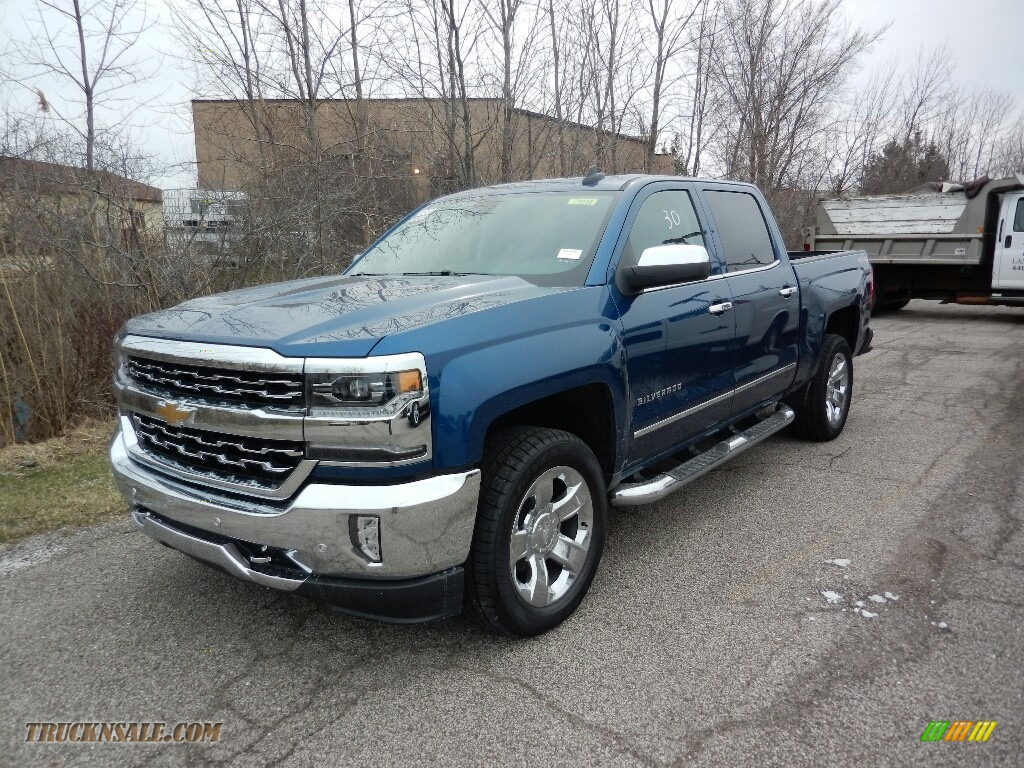 2017 chevrolet silverado 1500 ltz crew cab 4x4 in deep ocean blue metallic 297528 truck n 39 sale. Black Bedroom Furniture Sets. Home Design Ideas