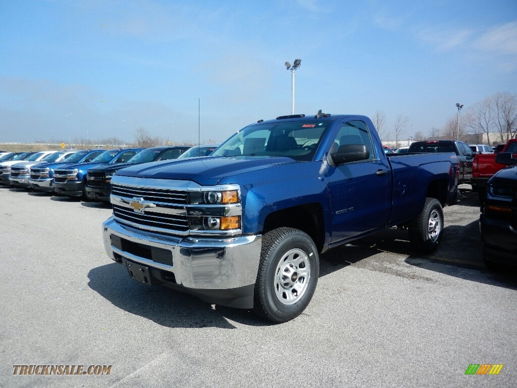 2017 chevrolet silverado 2500hd work truck regular cab 4x4 in deep ocean blue metallic 214054. Black Bedroom Furniture Sets. Home Design Ideas
