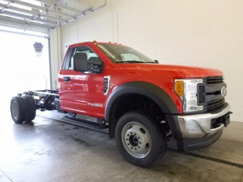 Race Red 2017 Ford F450 Super Duty XL Regular Cab 4x4 Chassis