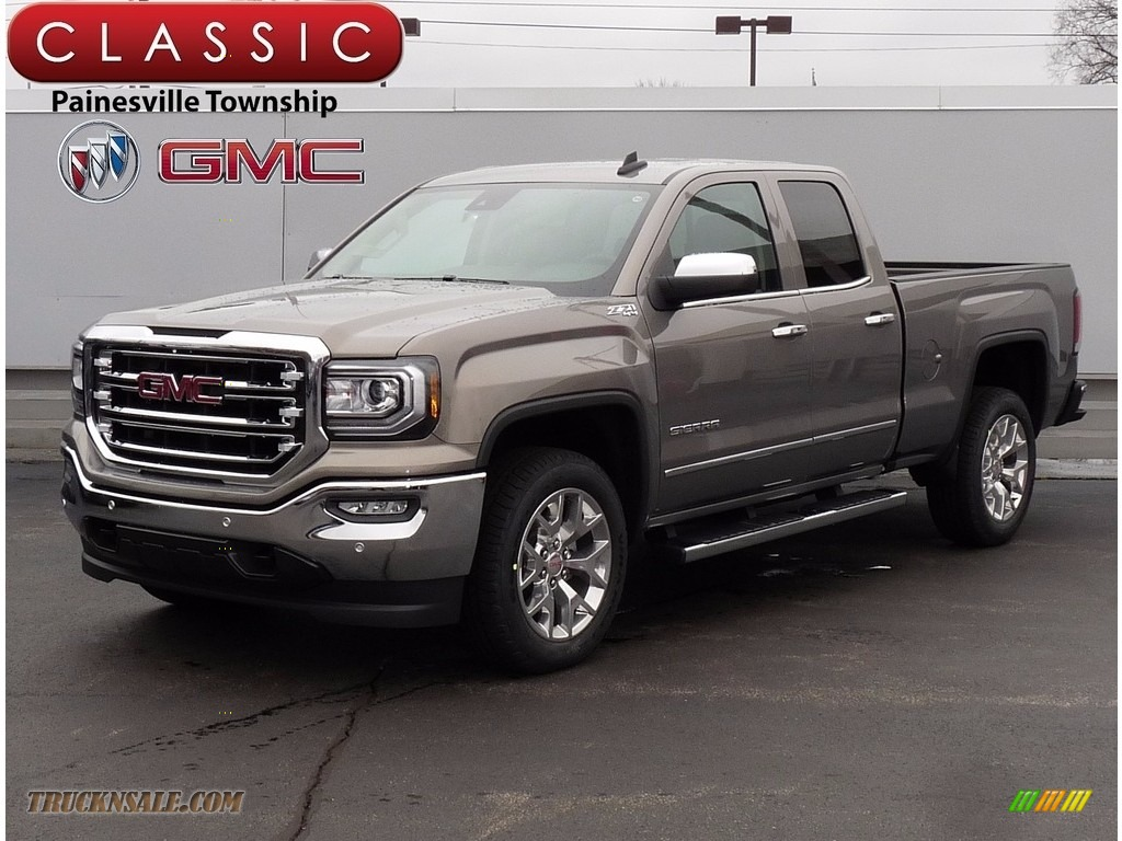 2017 gmc sierra 1500 slt double cab 4wd in pepperdust metallic 289412 truck n 39 sale. Black Bedroom Furniture Sets. Home Design Ideas