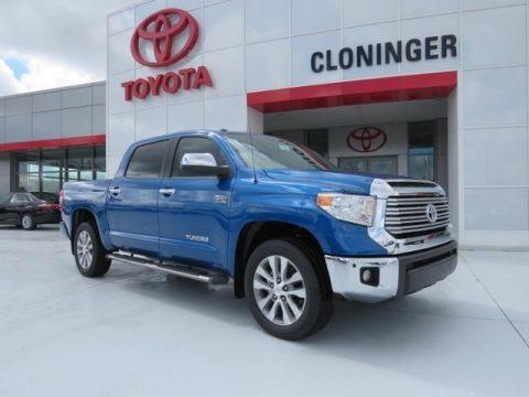 Blazing Blue Pearl 2017 Toyota Tundra Limited CrewMax