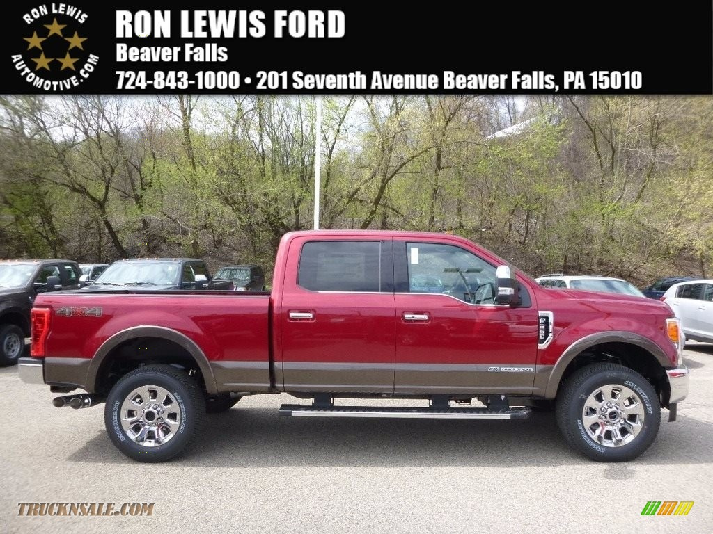 2017 ford f250 super duty king ranch crew cab 4x4 in ruby red d24431 truck n 39 sale. Black Bedroom Furniture Sets. Home Design Ideas