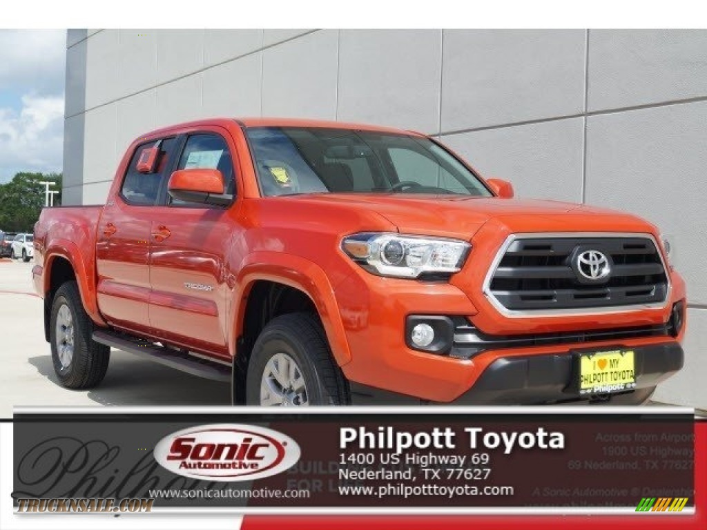 2017 toyota tacoma sr5 double cab in inferno orange. Black Bedroom Furniture Sets. Home Design Ideas