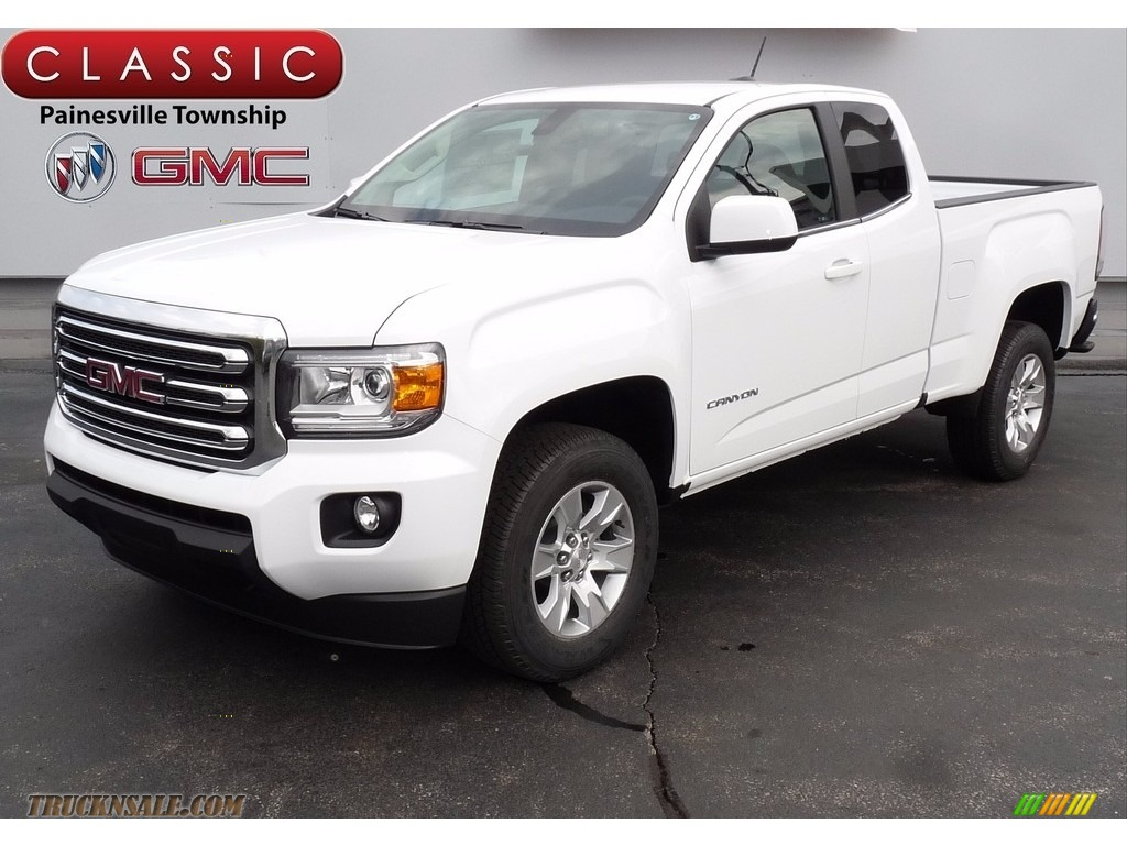 2017 gmc canyon sle extended cab in summit white 251466. Black Bedroom Furniture Sets. Home Design Ideas