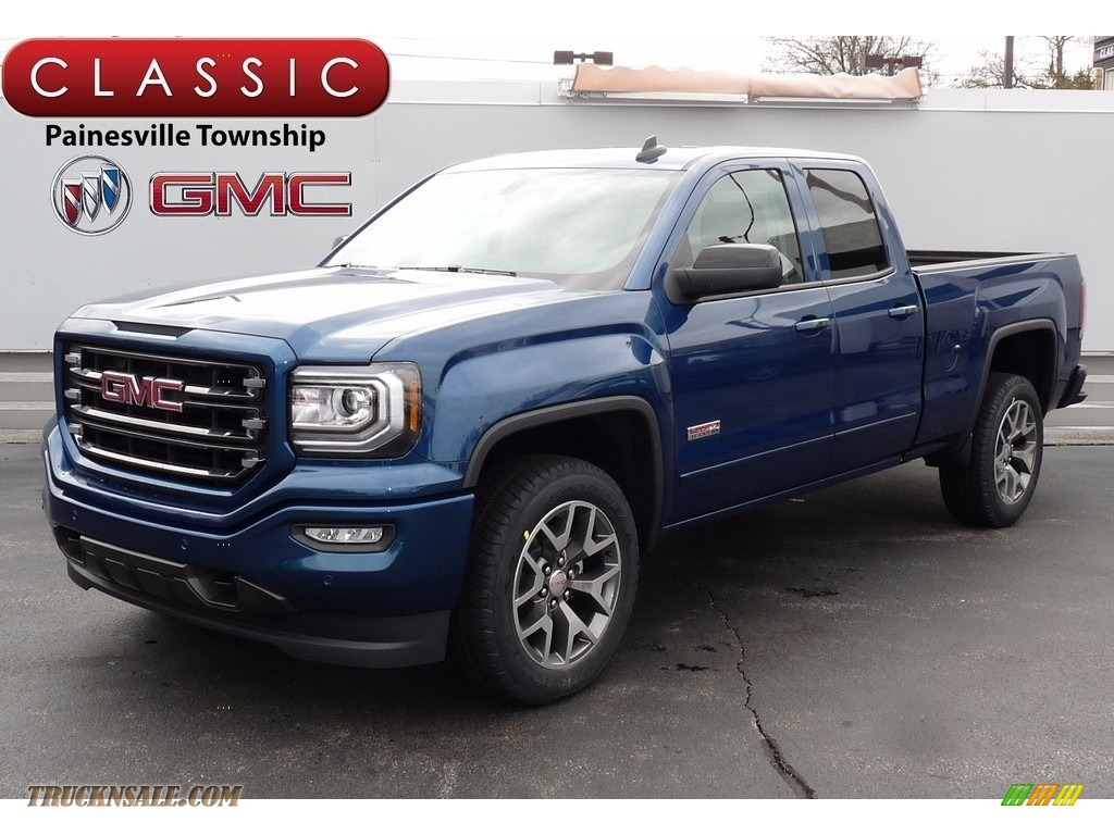 2017 gmc sierra 1500 slt double cab 4wd in stone blue metallic 318693 truck n 39 sale. Black Bedroom Furniture Sets. Home Design Ideas