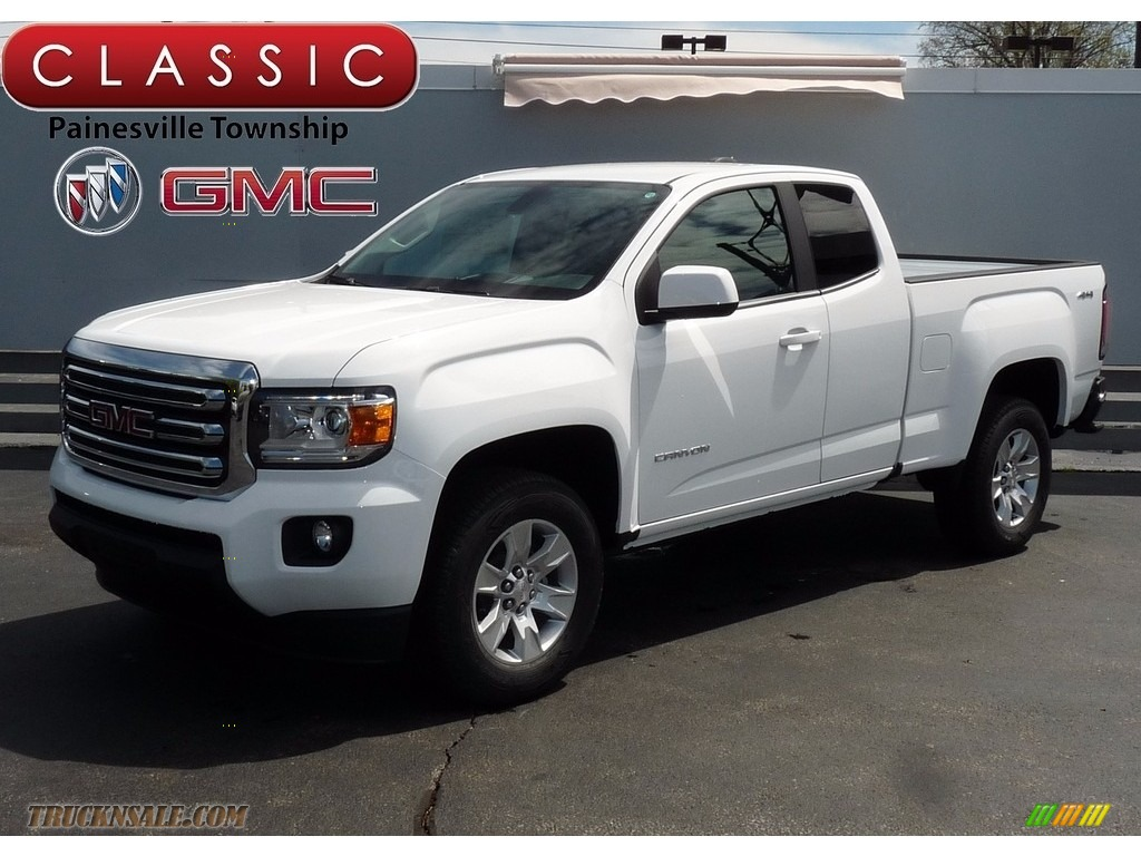2017 GMC Canyon SLE Extended Cab 4x4 in Summit White for ...