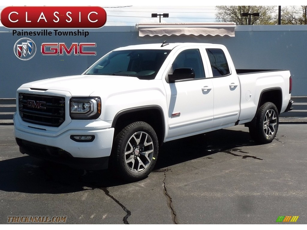 2017 gmc sierra 1500 slt double cab 4wd in summit white 304349 truck n 39 sale. Black Bedroom Furniture Sets. Home Design Ideas