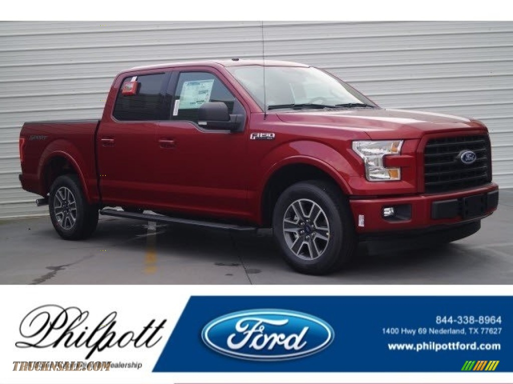2017 ford f150 xlt supercrew in ruby red d41351 truck n 39 sale. Black Bedroom Furniture Sets. Home Design Ideas