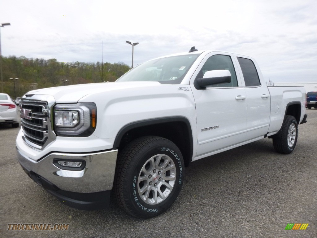 2017 gmc sierra 1500 sle double cab 4wd in summit white 319552 truck n 39 sale. Black Bedroom Furniture Sets. Home Design Ideas