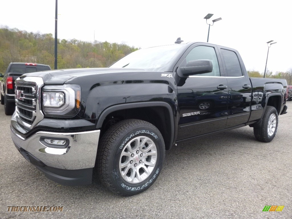 2017 gmc sierra 1500 sle double cab 4wd in onyx black for sale 321541 truck n 39 sale. Black Bedroom Furniture Sets. Home Design Ideas