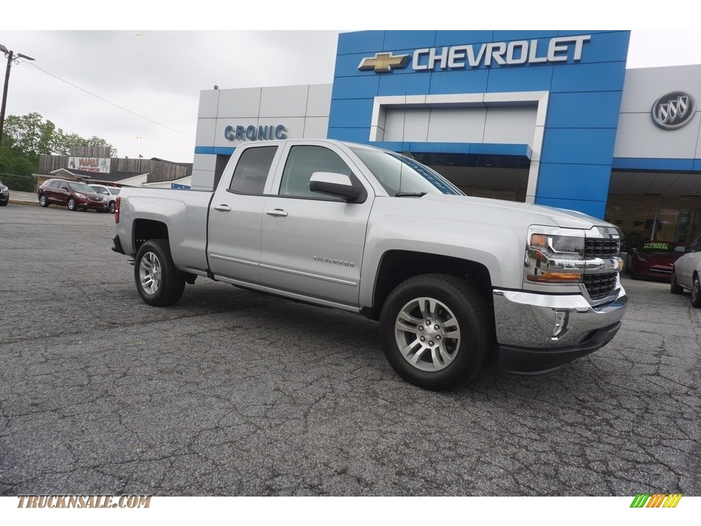 2017 chevrolet silverado 1500 lt double cab in silver ice metallic 276593 truck n 39 sale. Black Bedroom Furniture Sets. Home Design Ideas