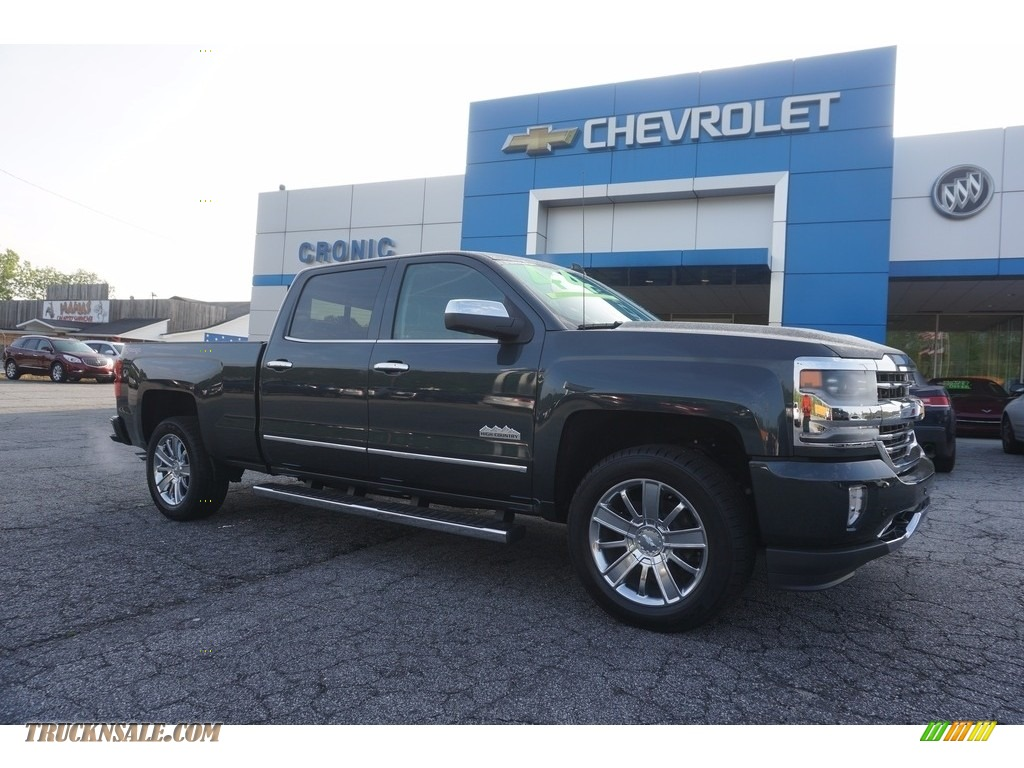 2017 chevrolet silverado 1500 high country crew cab 4x4 in graphite metallic 365690 truck n. Black Bedroom Furniture Sets. Home Design Ideas