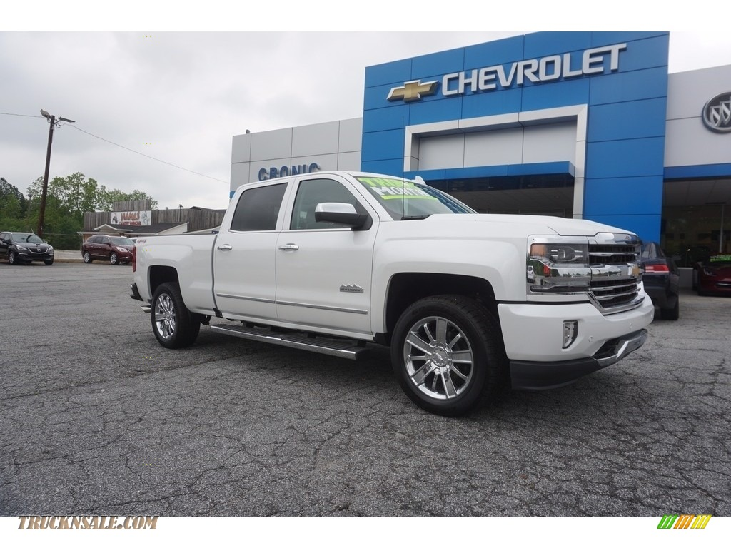 2017 chevrolet silverado 1500 high country crew cab 4x4 in iridescent pearl tricoat 355188. Black Bedroom Furniture Sets. Home Design Ideas