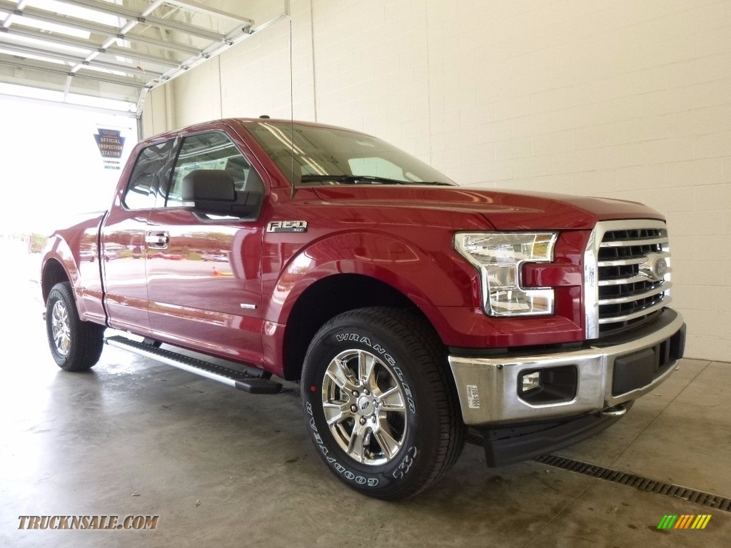 2017 ford f150 xlt supercab 4x4 in ruby red c00645 truck n 39 sale. Black Bedroom Furniture Sets. Home Design Ideas