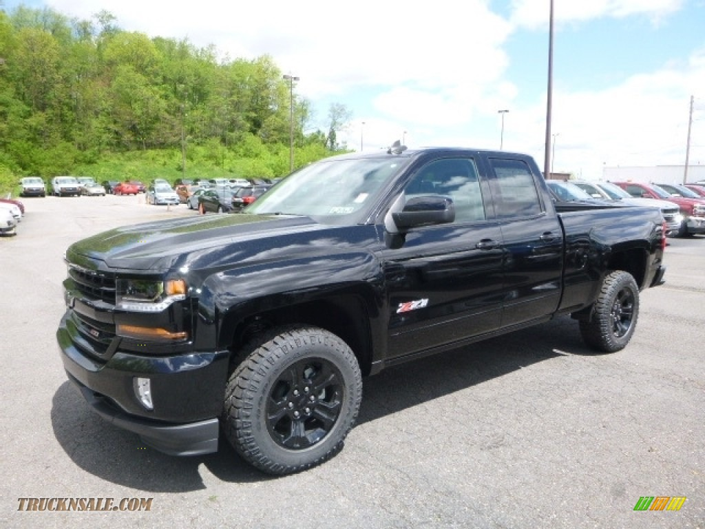 2017 chevrolet silverado 1500 lt double cab 4x4 in black 329697 truck n 39 sale. Black Bedroom Furniture Sets. Home Design Ideas