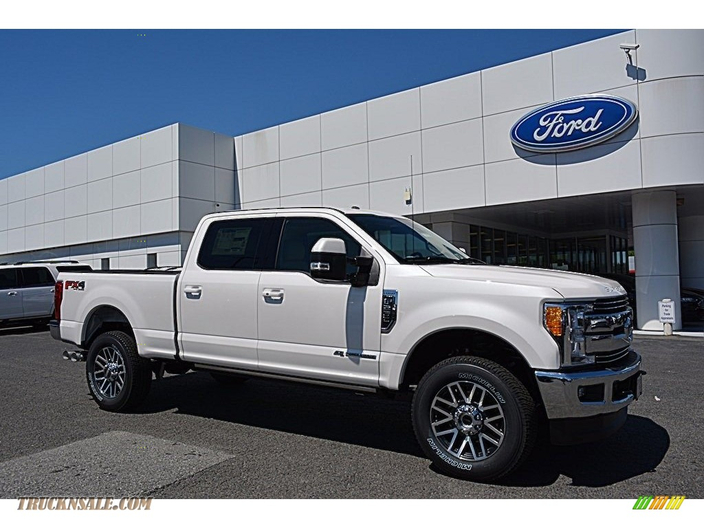 2017 ford f250 super duty lariat crew cab 4x4 in white platinum d39354 truck n 39 sale. Black Bedroom Furniture Sets. Home Design Ideas