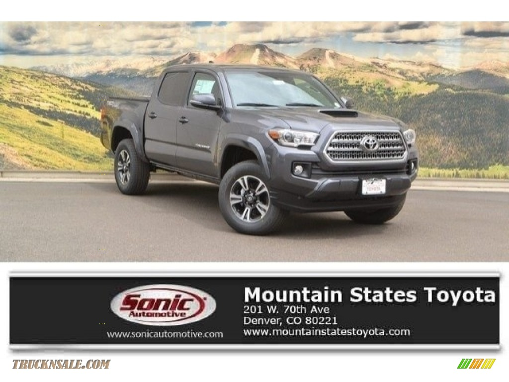 2017 toyota tacoma trd sport double cab 4x4 in magnetic gray metallic 090959 truck n 39 sale. Black Bedroom Furniture Sets. Home Design Ideas