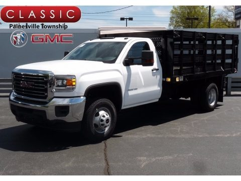 Summit White 2017 GMC Sierra 3500HD Regular Cab Stake Truck