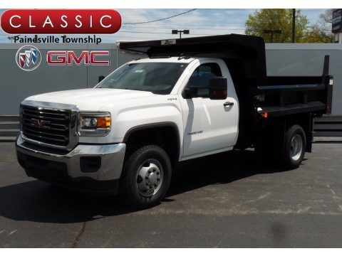 Summit White 2017 GMC Sierra 3500HD Regular Cab 4x4 Dump Truck