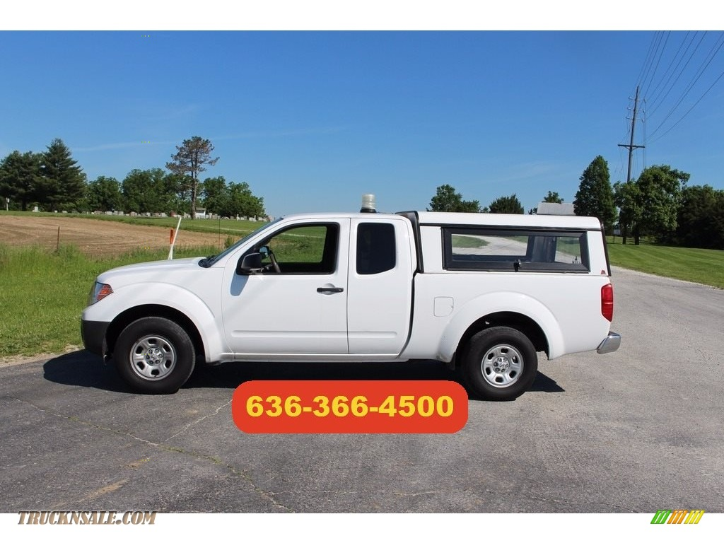 2012 Frontier S King Cab - Avalanche White / Steel photo #1
