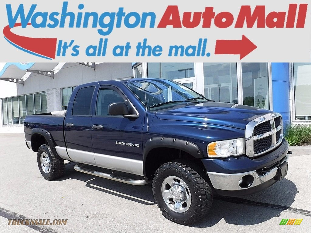 Patriot Blue Pearl / Dark Slate Gray Dodge Ram 2500 SLT Quad Cab 4x4