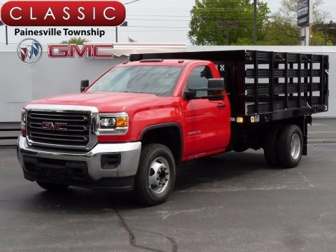 Cardinal Red 2017 GMC Sierra 3500HD Regular Cab Stake Truck