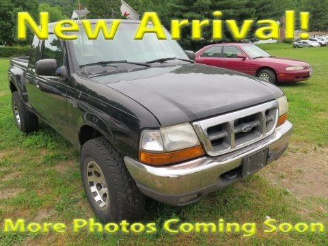 Black 2000 Ford Ranger XLT SuperCab 4x4