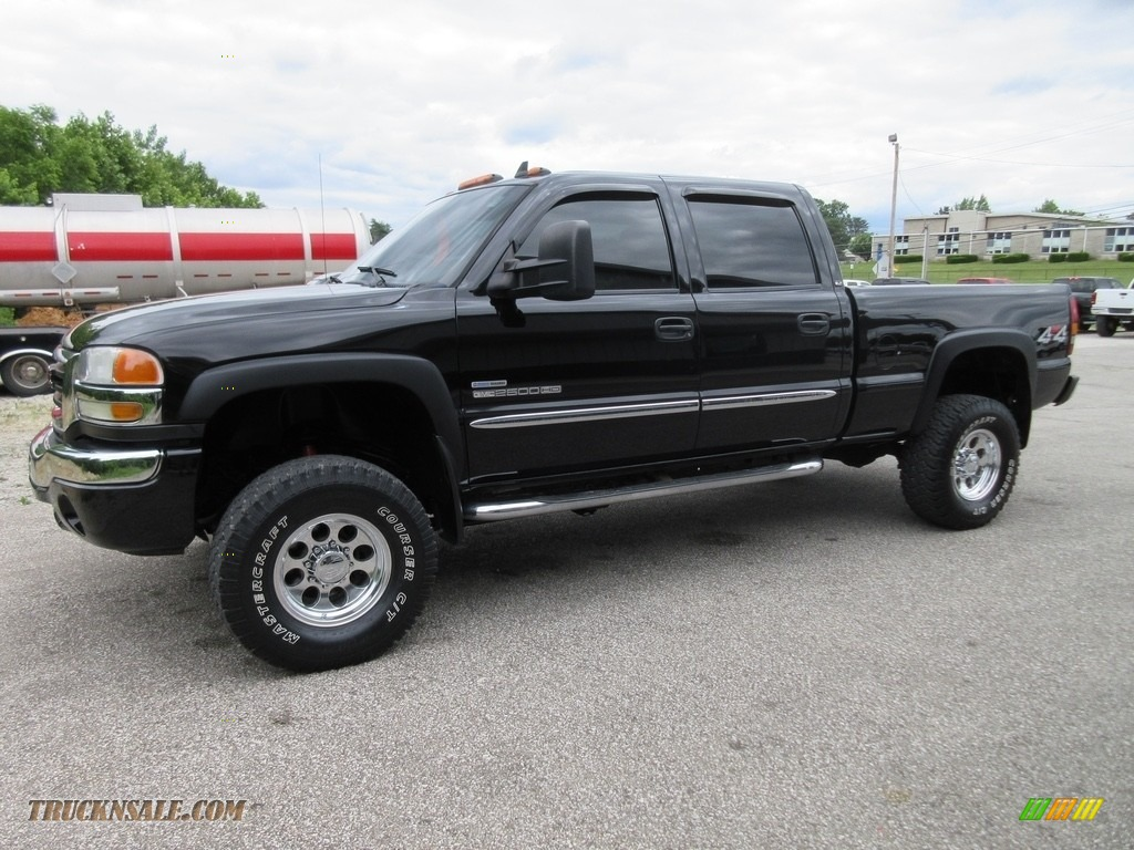 2006 Sierra 2500HD SLT Crew Cab 4x4 - Onyx Black / Dark Pewter photo #1