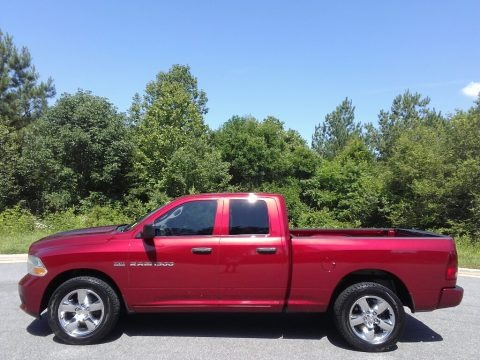 Deep Cherry Red Crystal Pearl 2012 Dodge Ram 1500 ST Quad Cab