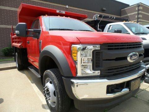 Race Red 2017 Ford F550 Super Duty XL Regular Cab 4x4 Dump Truck