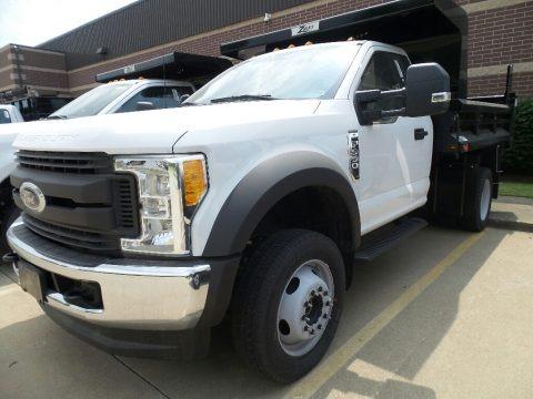 Oxford White 2017 Ford F550 Super Duty XL Regular Cab 4x4 Dump Truck