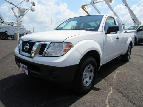 Avalanche White 2012 Nissan Frontier S King Cab