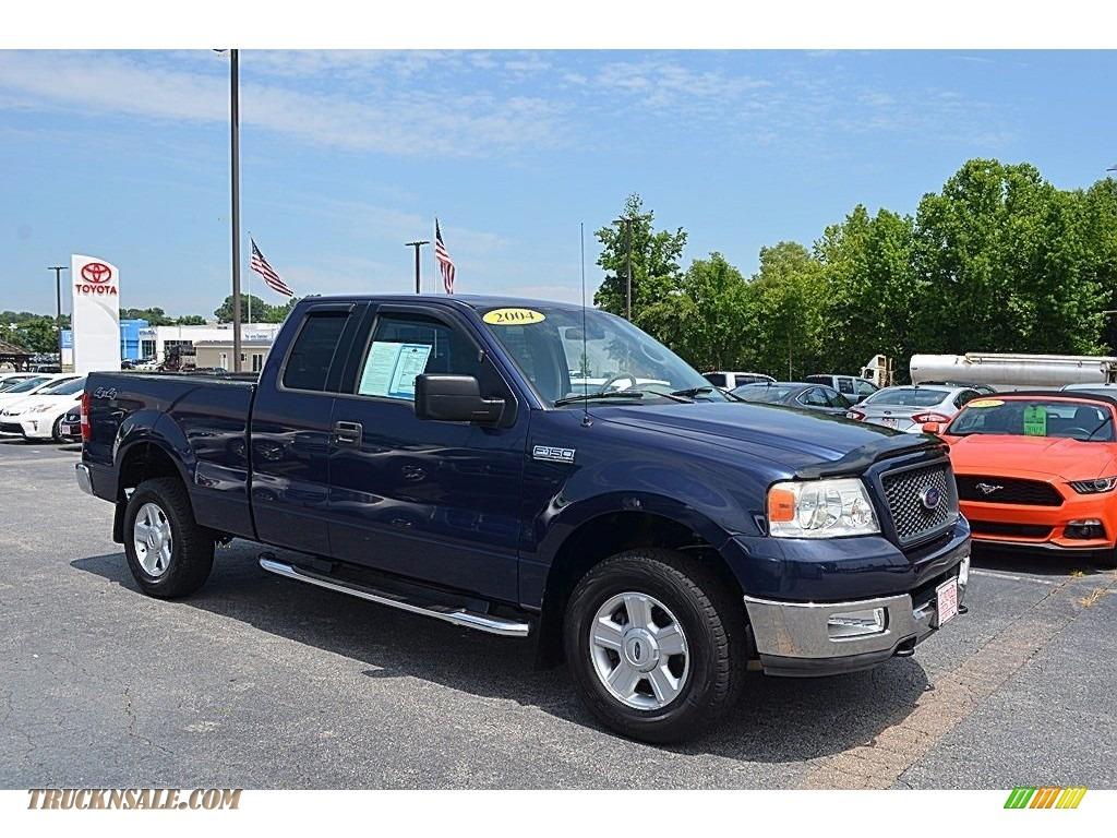 2004 Ford F150 Xlt Supercab 4x4 In True Blue Metallic B90167 F 150 Medium Dark Flint Photo