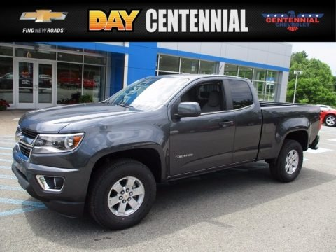 Cyber Gray Metallic 2017 Chevrolet Colorado WT Extended Cab 4x4
