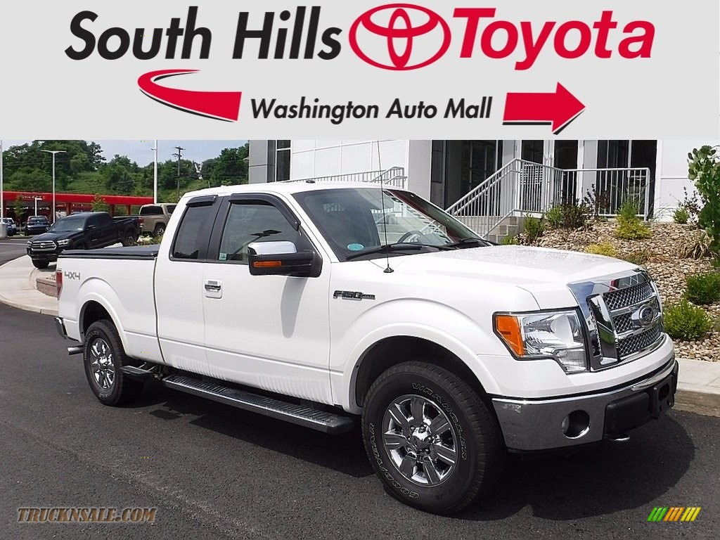 2010 F150 Lariat SuperCab 4x4 - Oxford White / Tan photo #1