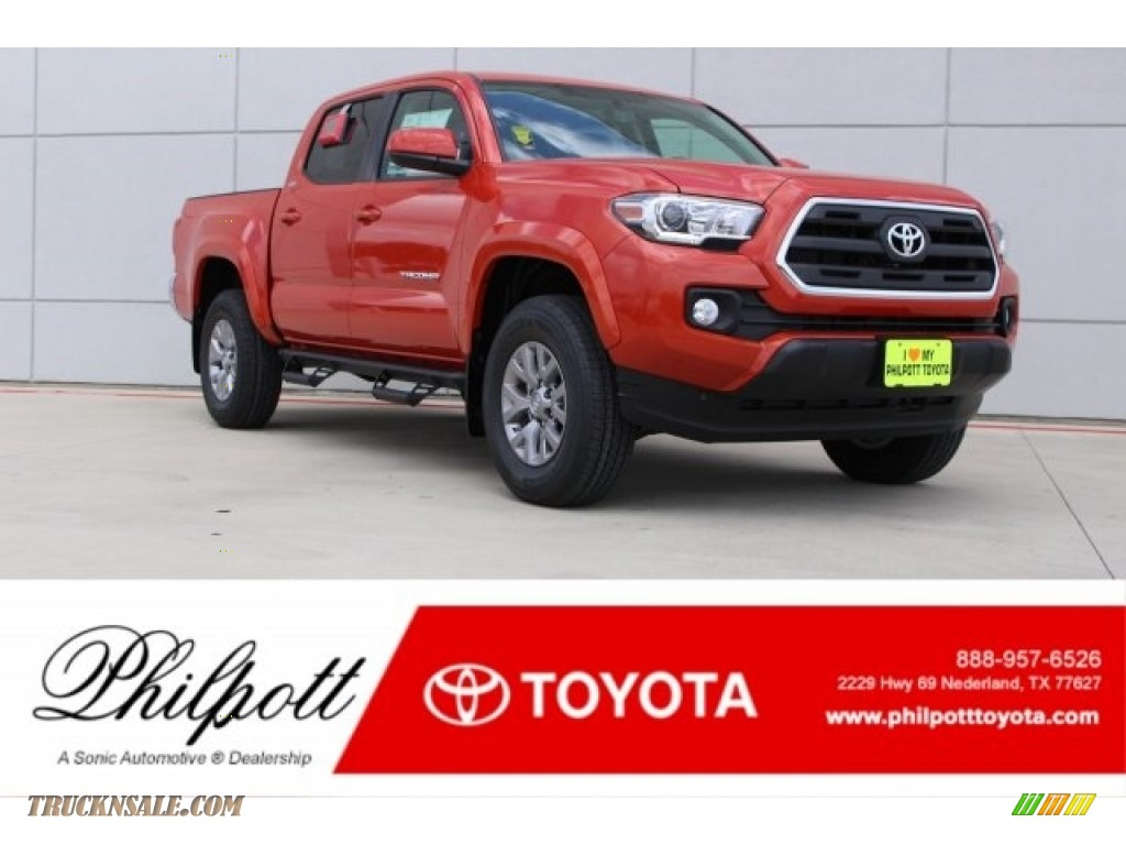 2017 Tacoma SR5 Double Cab - Inferno Orange / Cement Gray photo #1