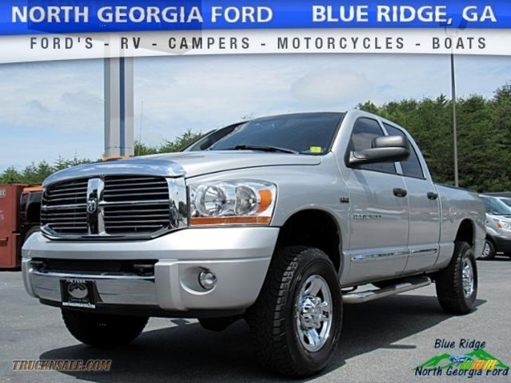 Bright Silver Metallic / Medium Slate Gray Dodge Ram 2500 Laramie Quad Cab 4x4