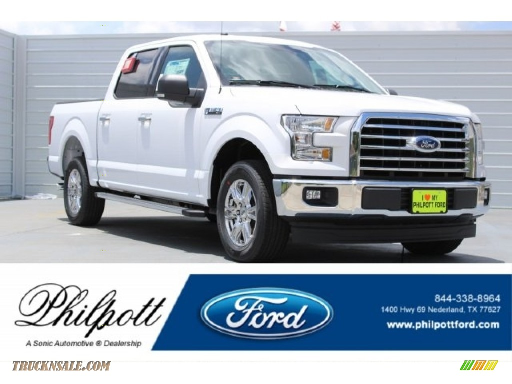 Oxford White / Earth Gray Ford F150 XLT SuperCrew