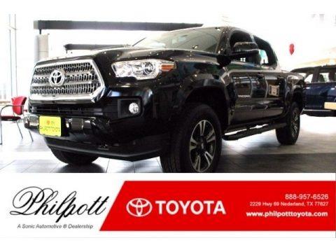 Black 2017 Toyota Tacoma TRD Sport Double Cab 4x4