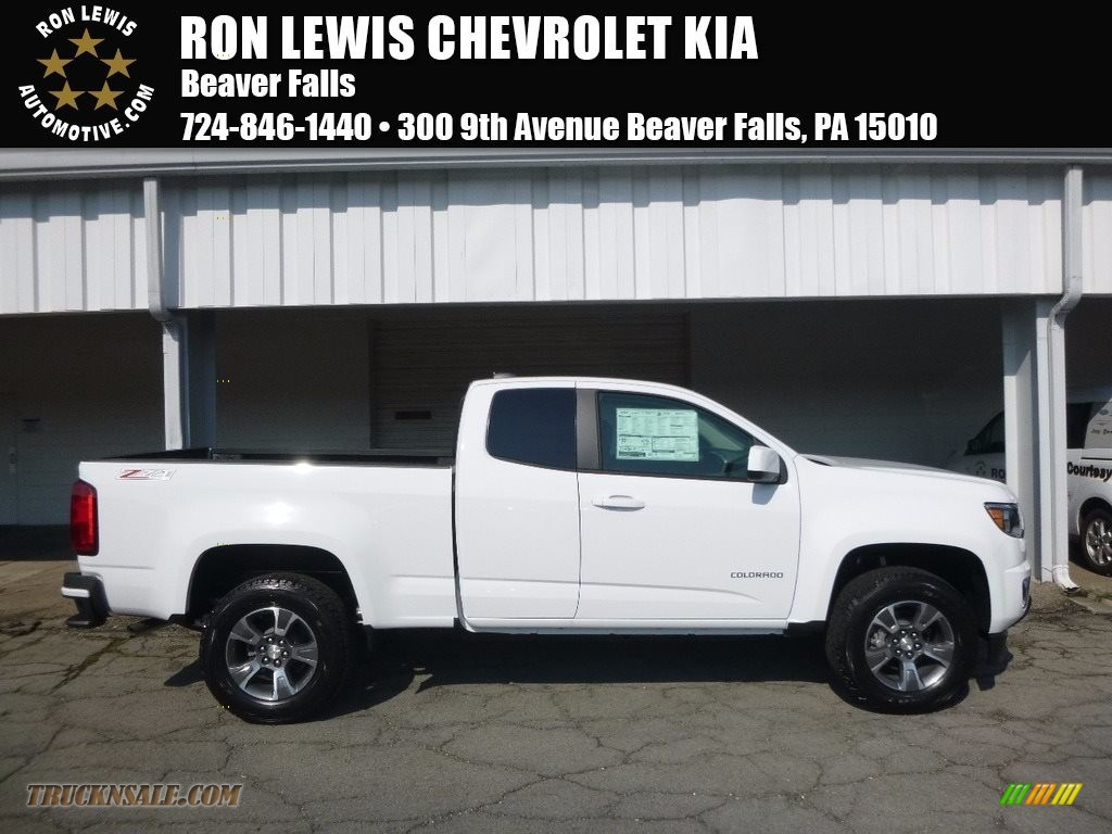 2017 chevrolet colorado z71 extended cab 4x4 in summit white 296458 truck n 39 sale. Black Bedroom Furniture Sets. Home Design Ideas