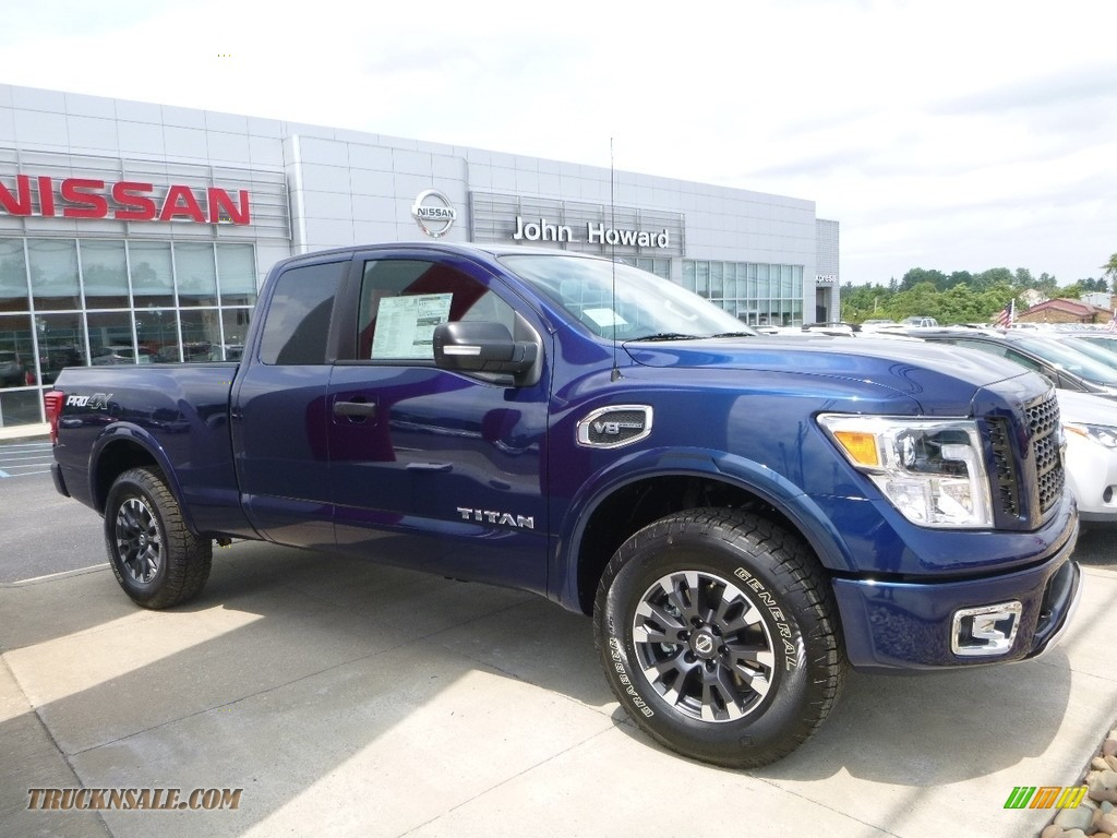 2017 nissan titan pro 4x king cab 4x4 in deep blue pearl 552274 truck n 39 sale. Black Bedroom Furniture Sets. Home Design Ideas