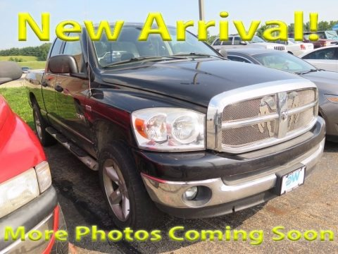 Brilliant Black Crystal Pearl 2008 Dodge Ram 1500 Big Horn Edition Quad Cab 4x4