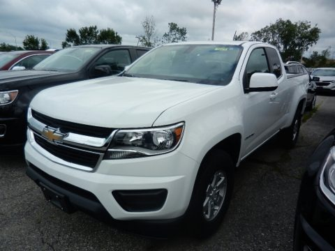 Summit White 2017 Chevrolet Colorado WT Extended Cab
